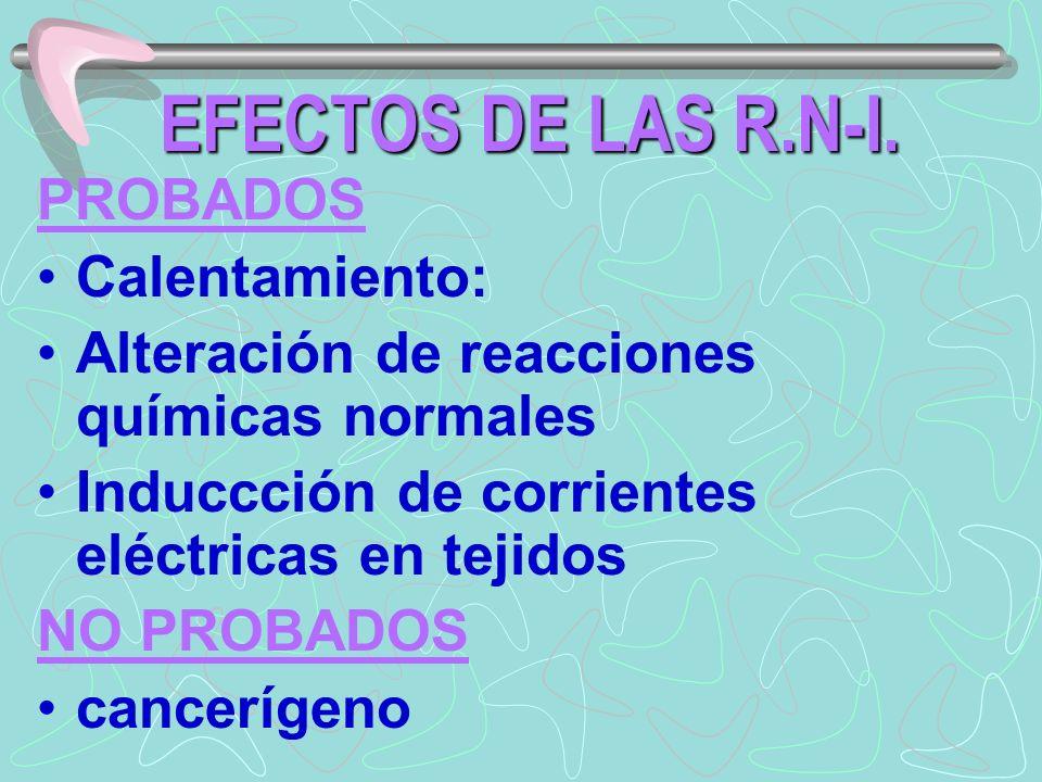 EFECTOS DE LAS R.N-I.