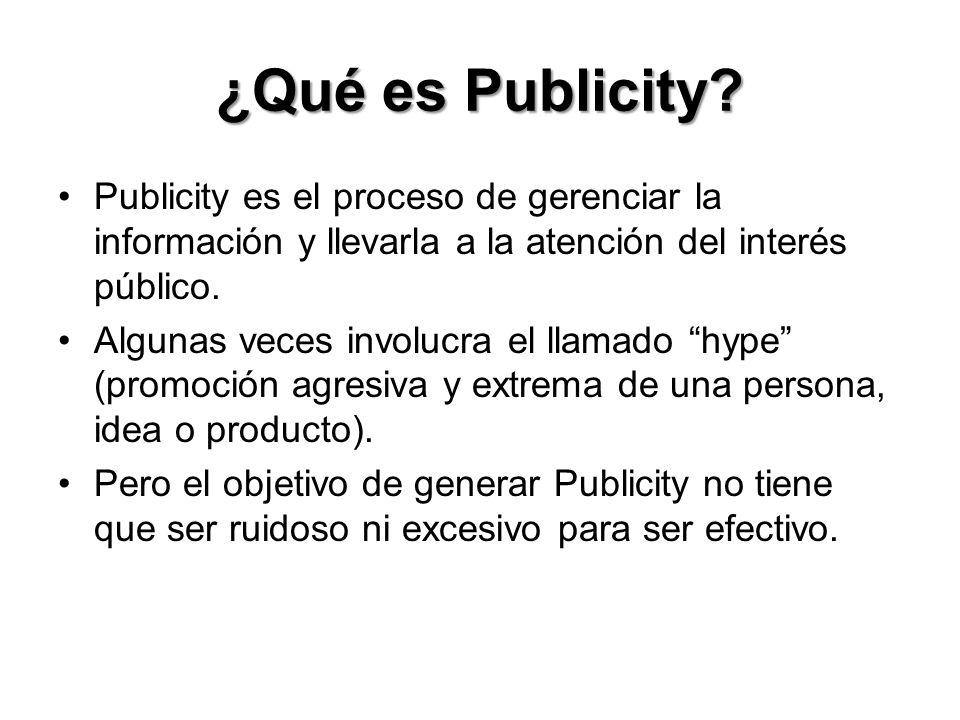 ¿Qué es Publicity.