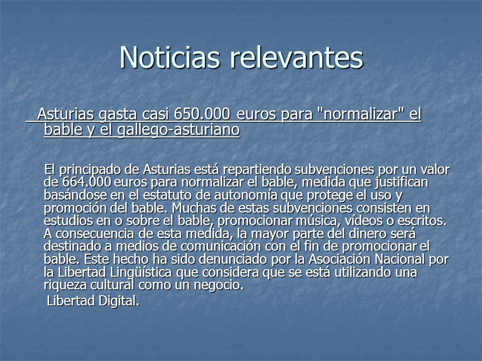 Noticias relevantes Asturias gasta casi 650.000 euros para