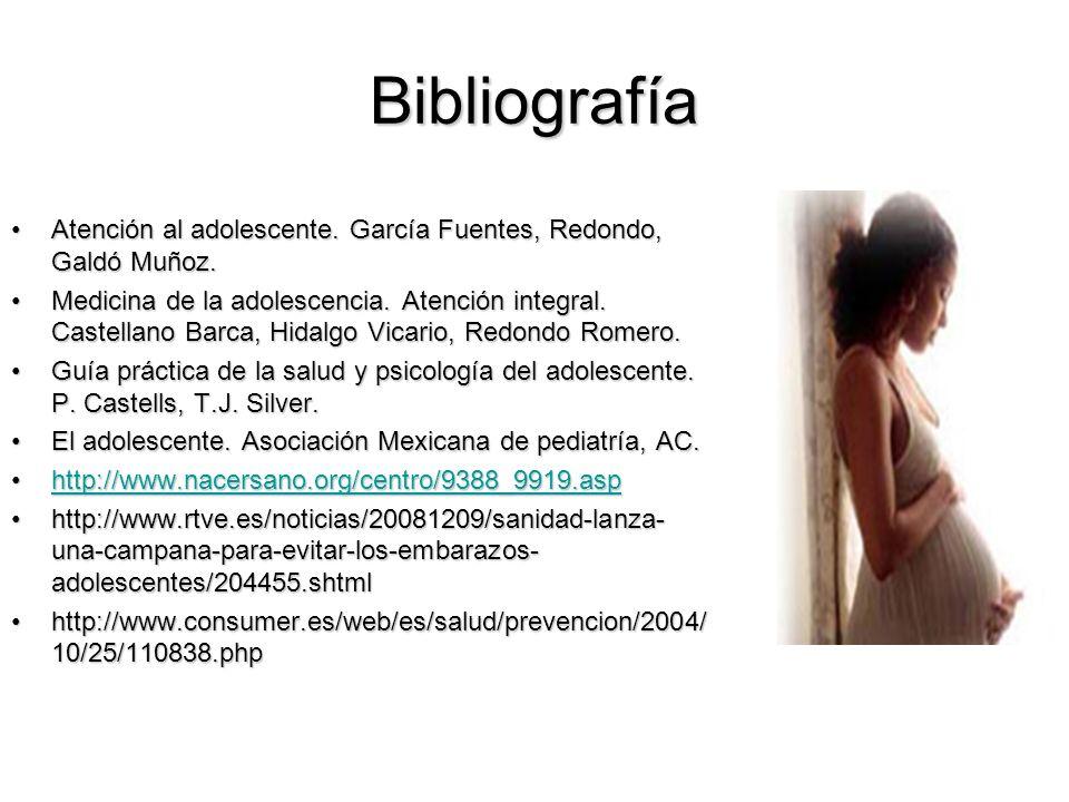 Bibliografía Atención al adolescente. García Fuentes, Redondo, Galdó Muñoz.Atención al adolescente. García Fuentes, Redondo, Galdó Muñoz. Medicina de