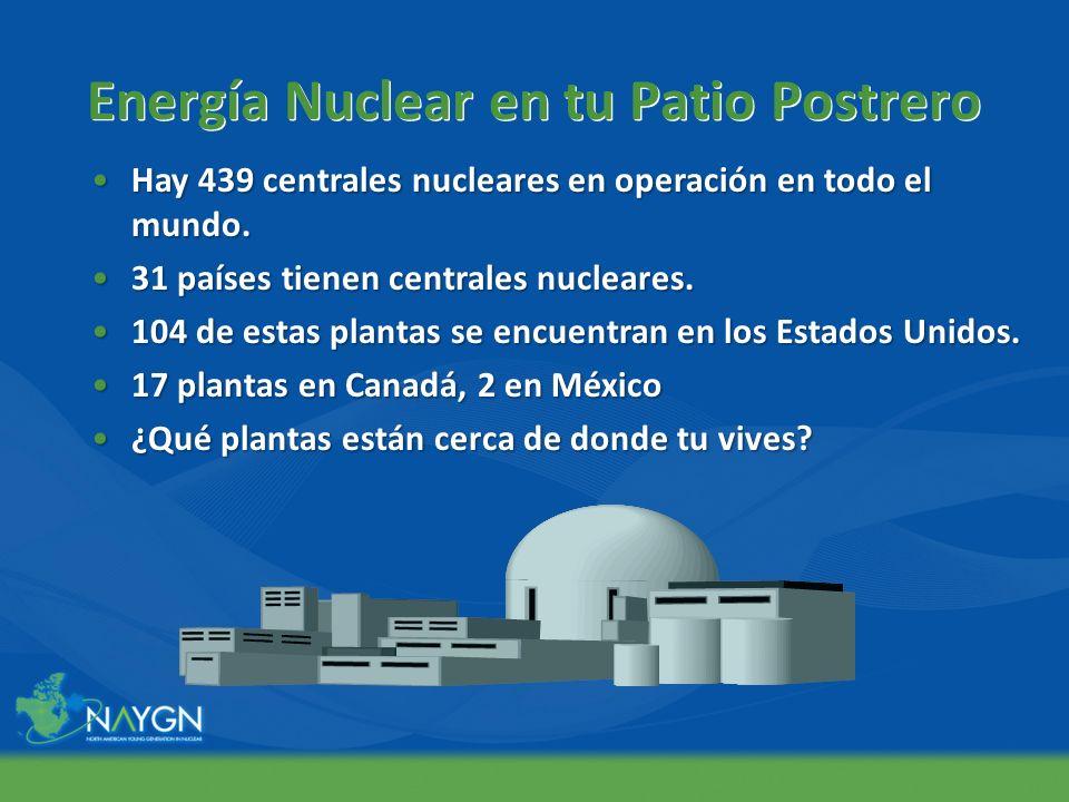 Energía Nuclear en tu Patio Postrero Hay 439 centrales nucleares en operación en todo el mundo.Hay 439 centrales nucleares en operación en todo el mun