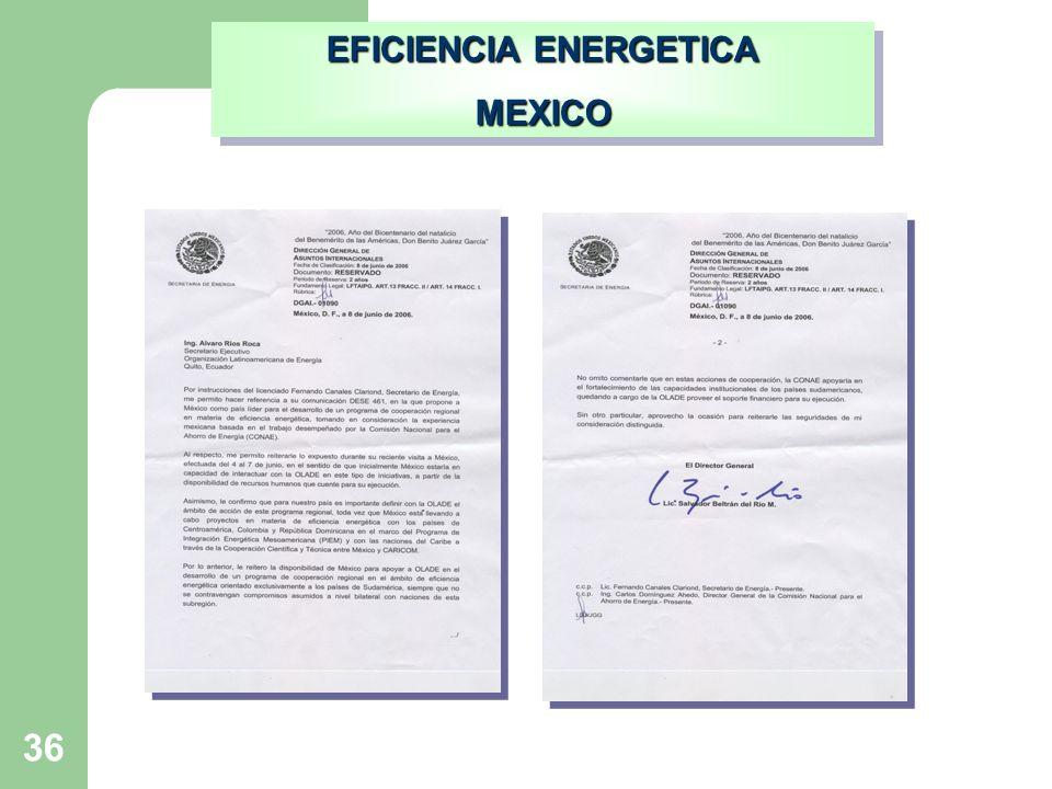 36 EFICIENCIA ENERGETICA MEXICO MEXICO