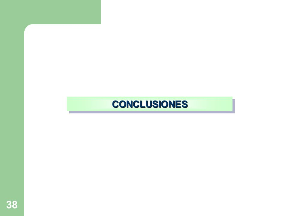 38 CONCLUSIONESCONCLUSIONES