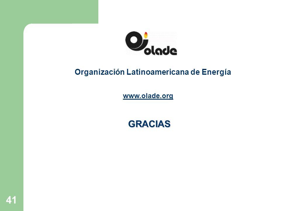 41 Organización Latinoamericana de Energía GRACIAS www.olade.org
