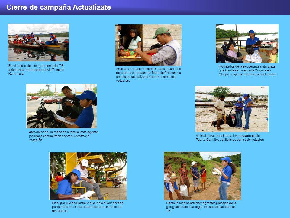 Cierre de campaña Actualízate Ante la curiosa e inocente mirada de un niño de la etnia wounaán, en Majé de Chimán, su abuela es actualizada sobre su c