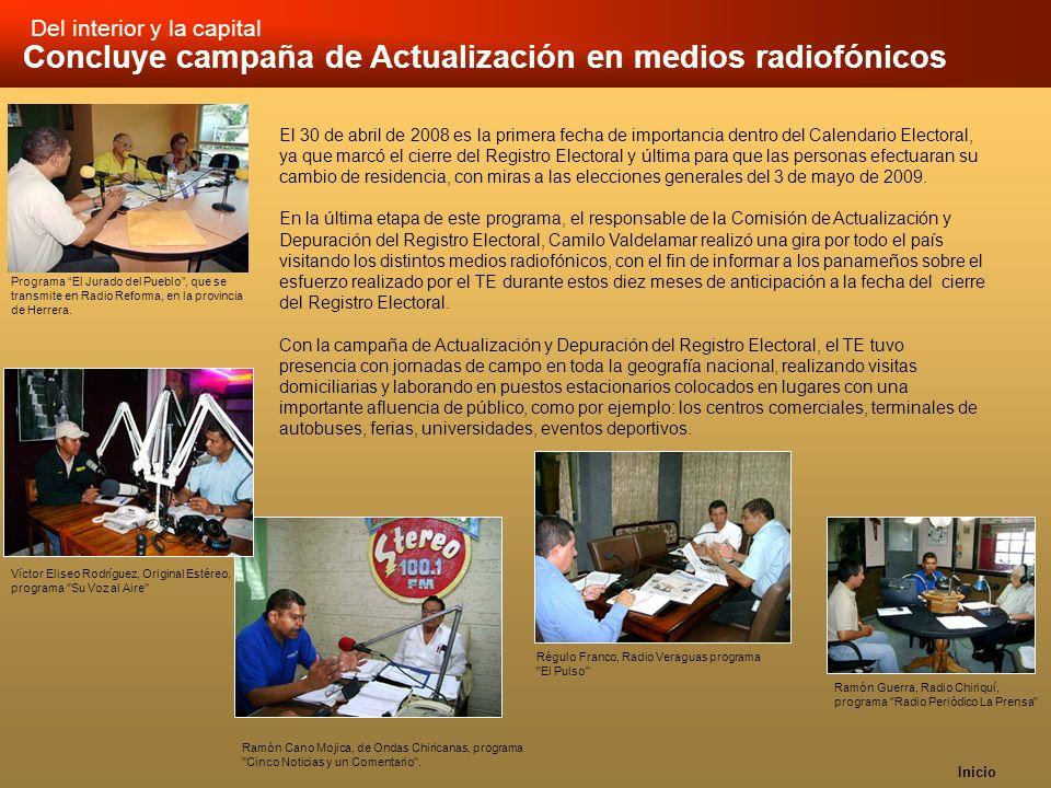 Inicio Concluye campaña de Actualización en medios radiofónicos Ramón Cano Mojica, de Ondas Chiricanas, programa
