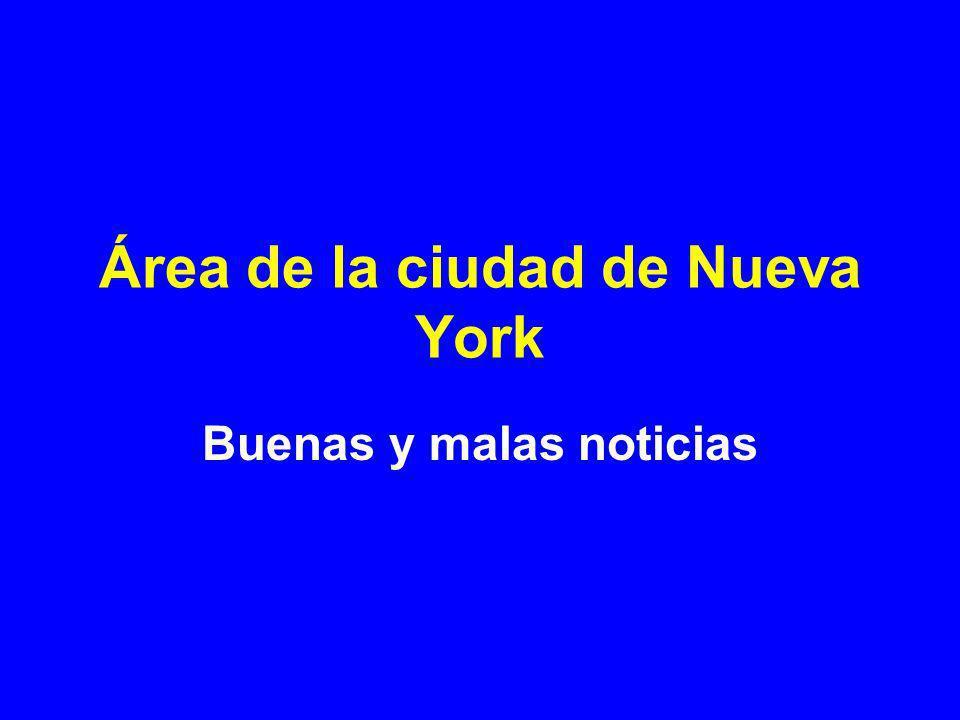 Área de la ciudad de Nueva York Buenas y malas noticias