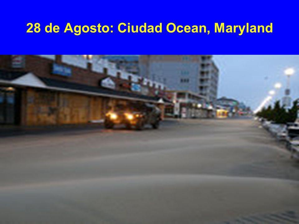 28 de Agosto: Ciudad Ocean, Maryland