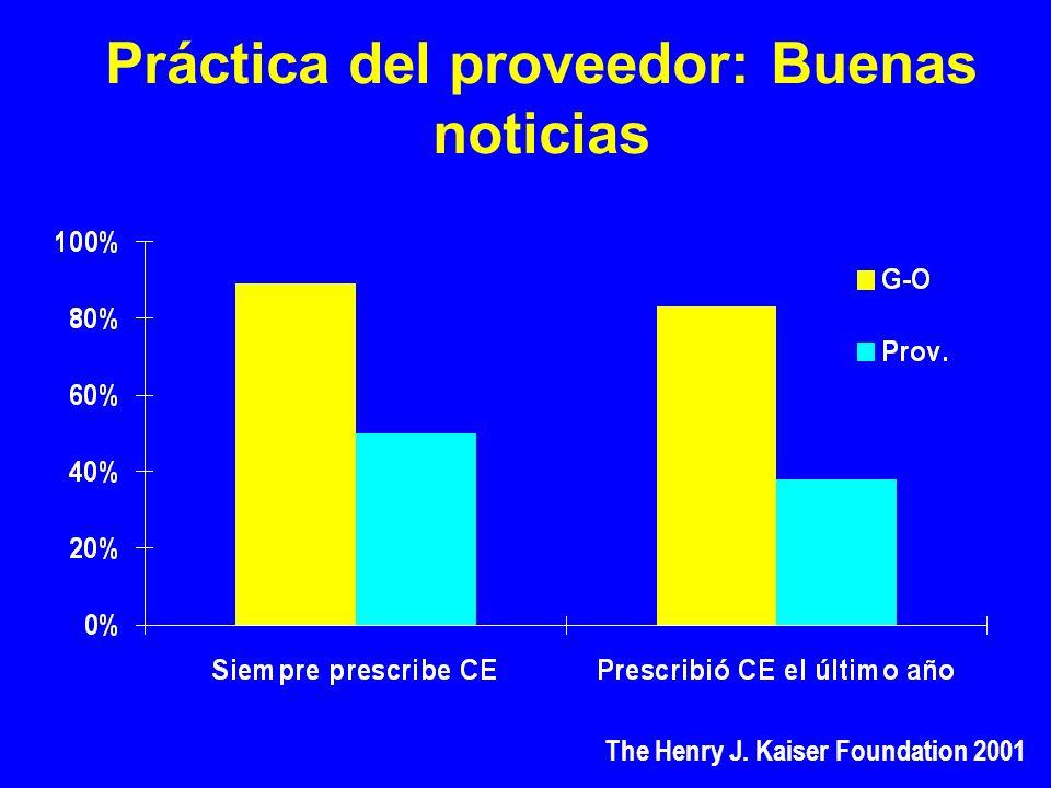Práctica del proveedor: Buenas noticias The Henry J. Kaiser Foundation 2001