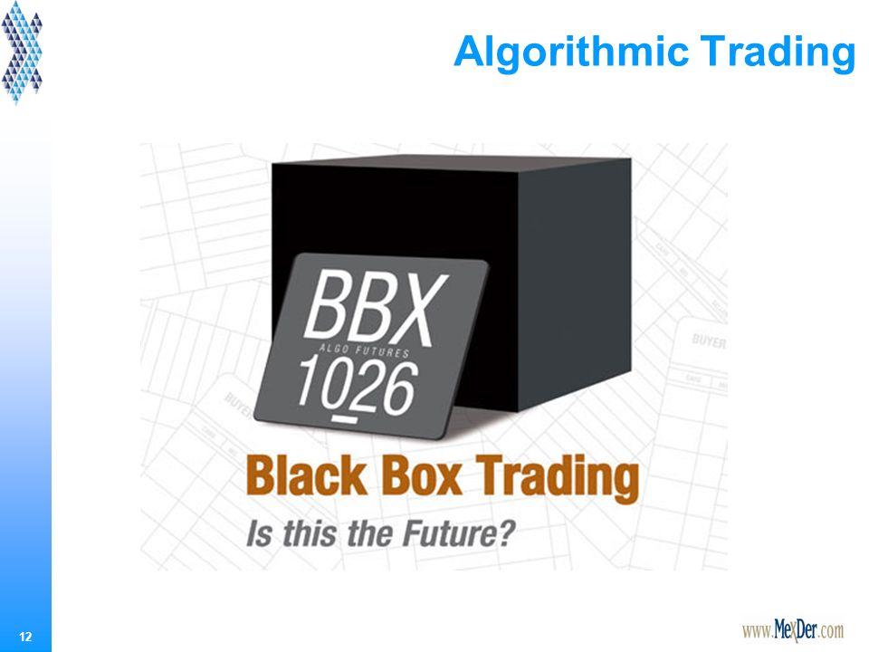 12 Algorithmic Trading
