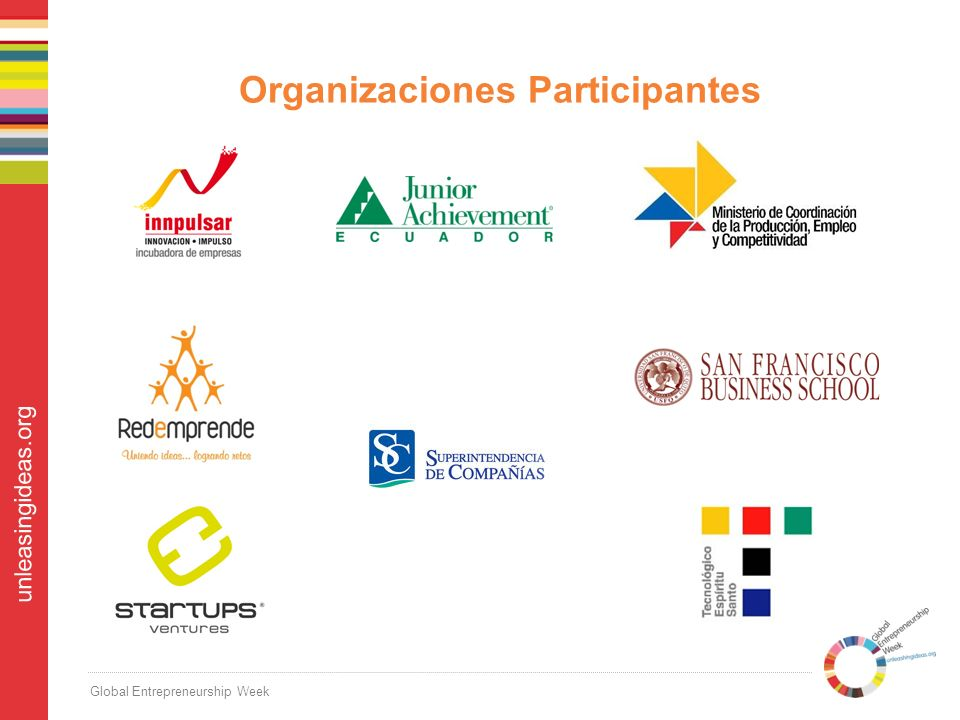 Global Entrepreneurship Week unleasingideas.org Organizaciones Participantes