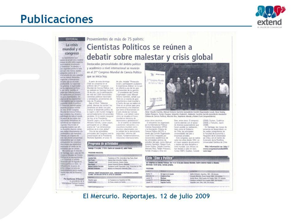 El Mercurio. Reportajes. 12 de julio 2009