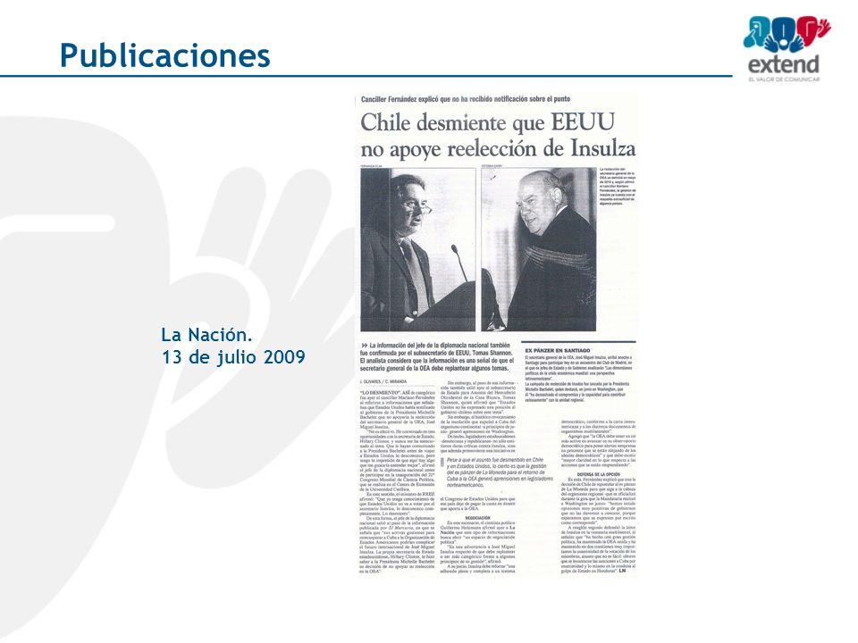 La Nación. 13 de julio 2009