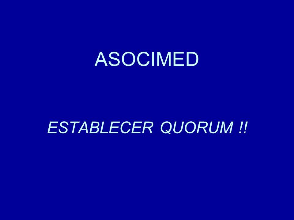 Cuenta del Presidente A partir del 2005 la Asociación de Facultades de Medicina de Chile (ASOFAMECH), la Asociación de Sociedades Científicas Médicas de Chile (ASOCIMED), el Colegio Médico de Chile A.G y la Academia de Medicina del Instituto de Chile comienzan a reunirse para desarrollar un trabajo conjunto en torno a los procesos relacionados con la acreditación del post-título médico.