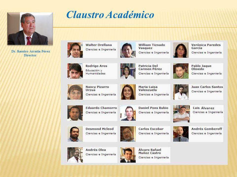 Dr. Ramiro Arratia Pérez Director Claustro Académico