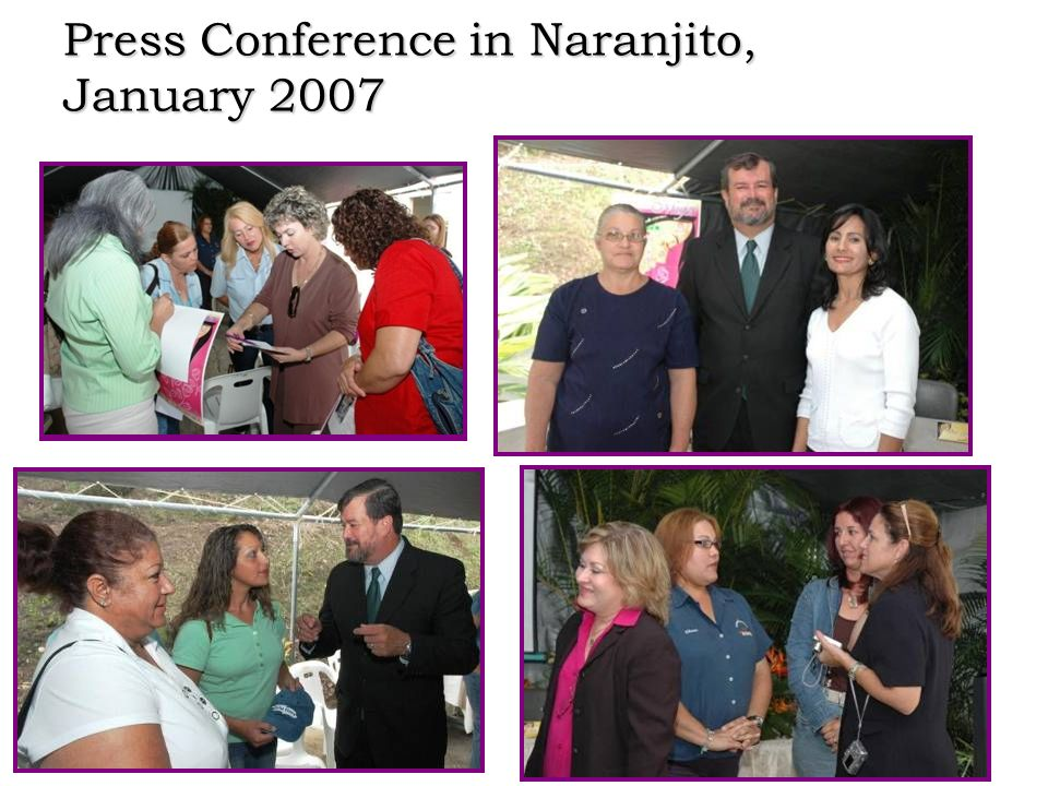 Press Conference in Naranjito, January 2007