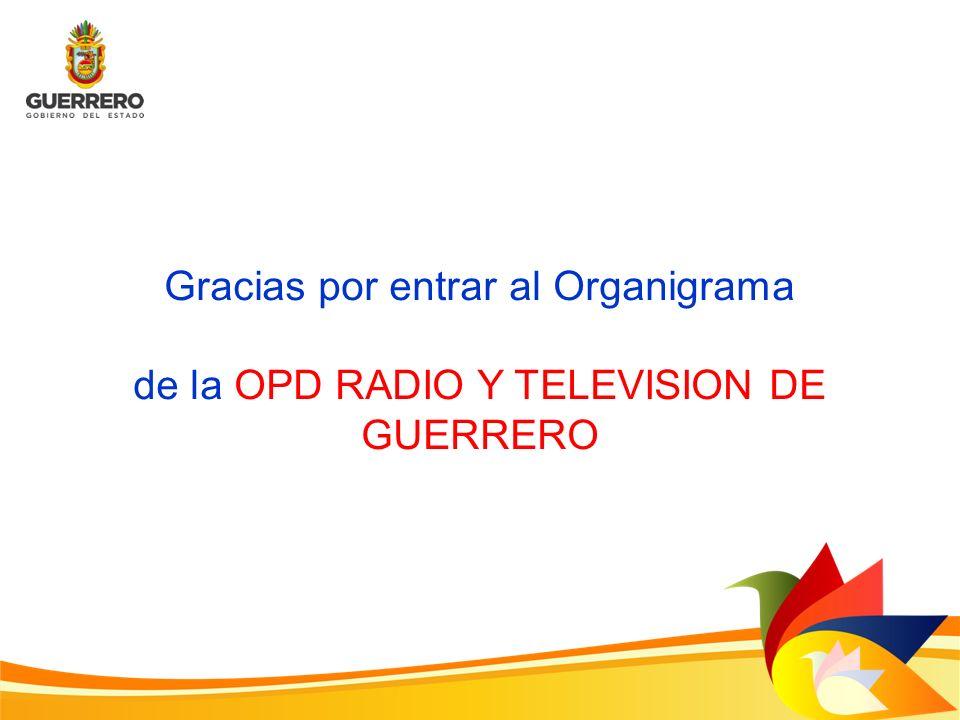 Gracias por entrar al Organigrama de la OPD RADIO Y TELEVISION DE GUERRERO