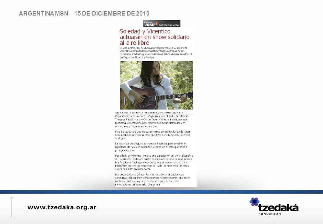 ARGENTINA MSN – 15 DE DICIEMBRE DE 2010