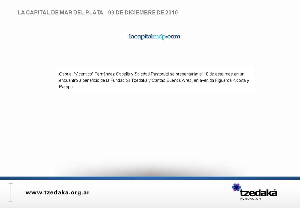 LA CAPITAL DE MAR DEL PLATA – 09 DE DICIEMBRE DE 2010
