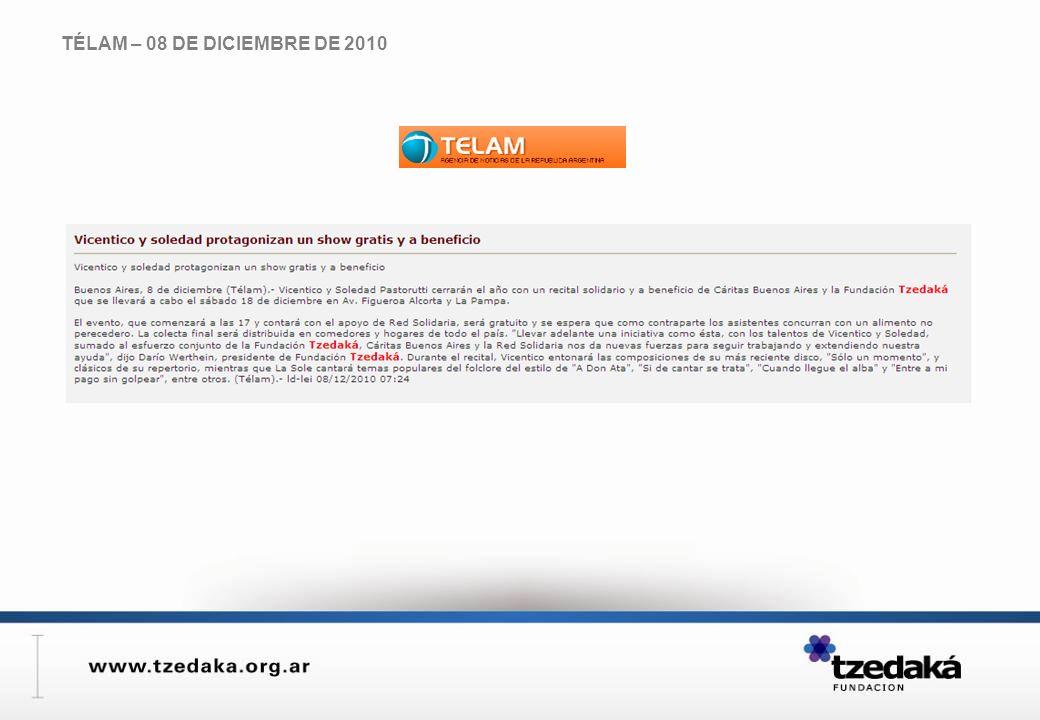 TÉLAM – 08 DE DICIEMBRE DE 2010