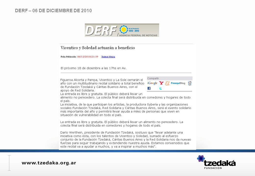 DERF – 06 DE DICIEMBRE DE 2010
