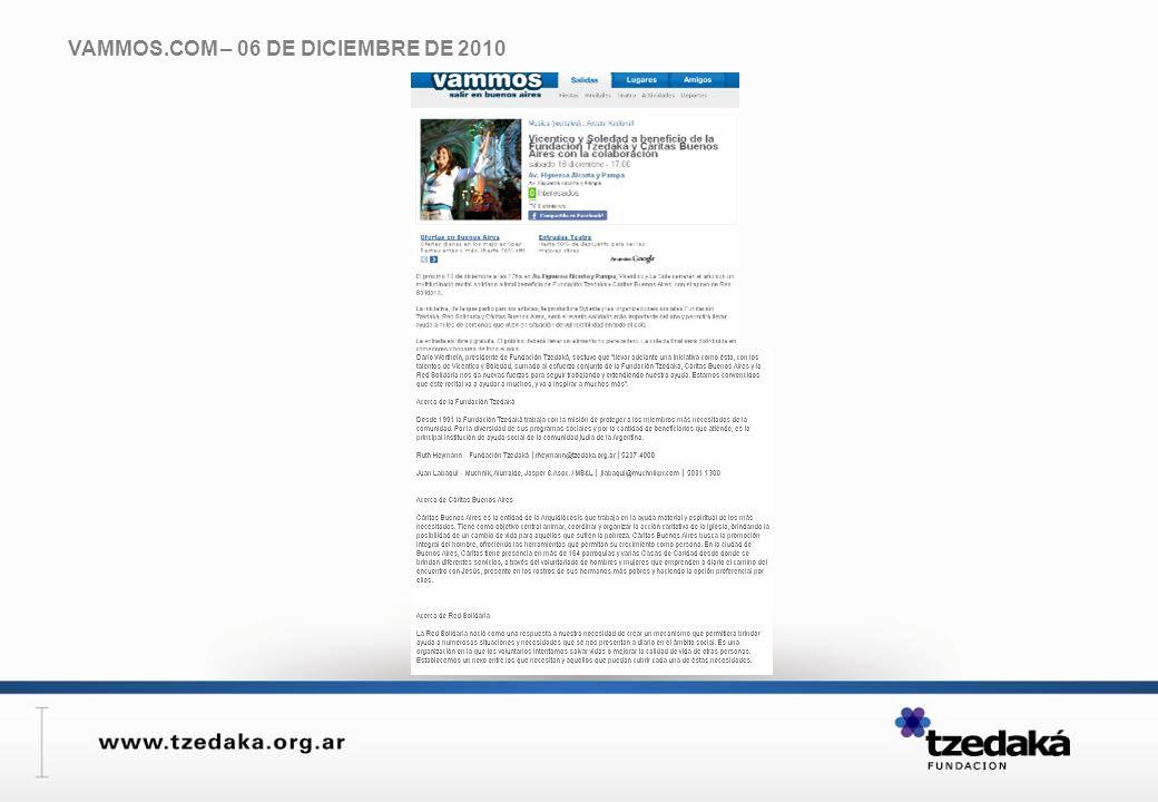 VAMMOS.COM – 06 DE DICIEMBRE DE 2010