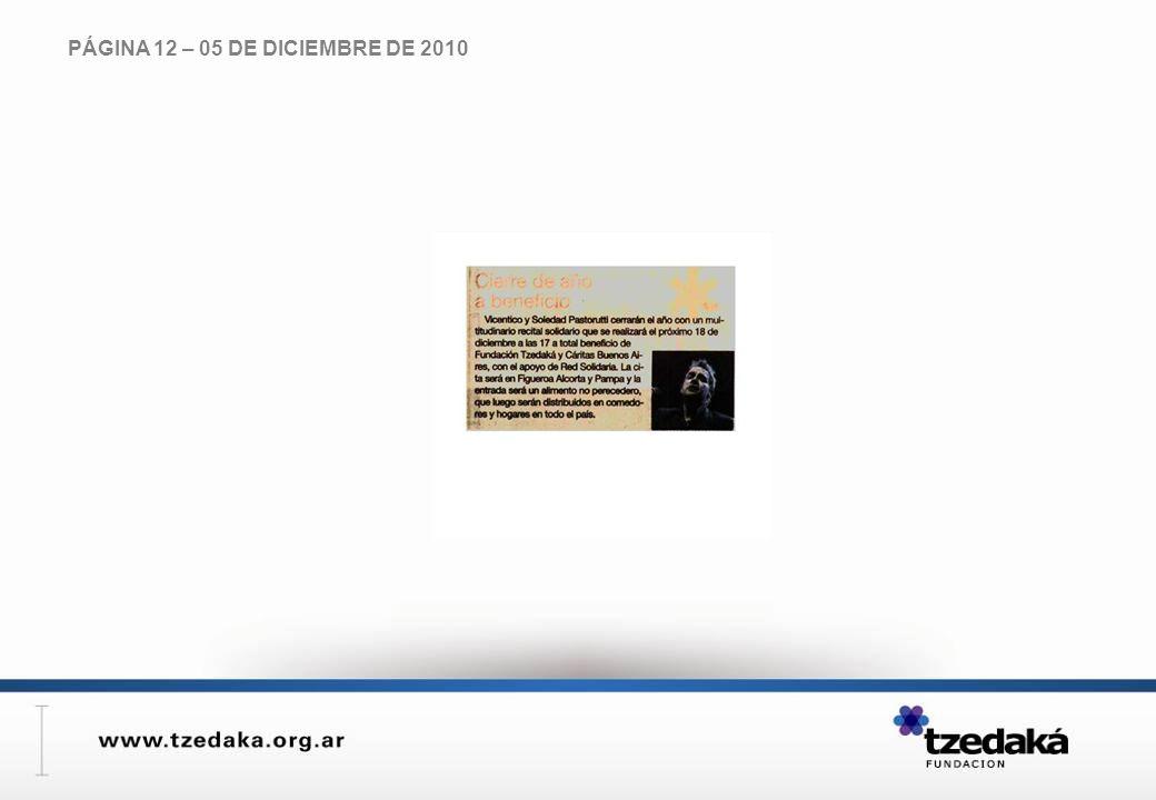 PÁGINA 12 – 05 DE DICIEMBRE DE 2010
