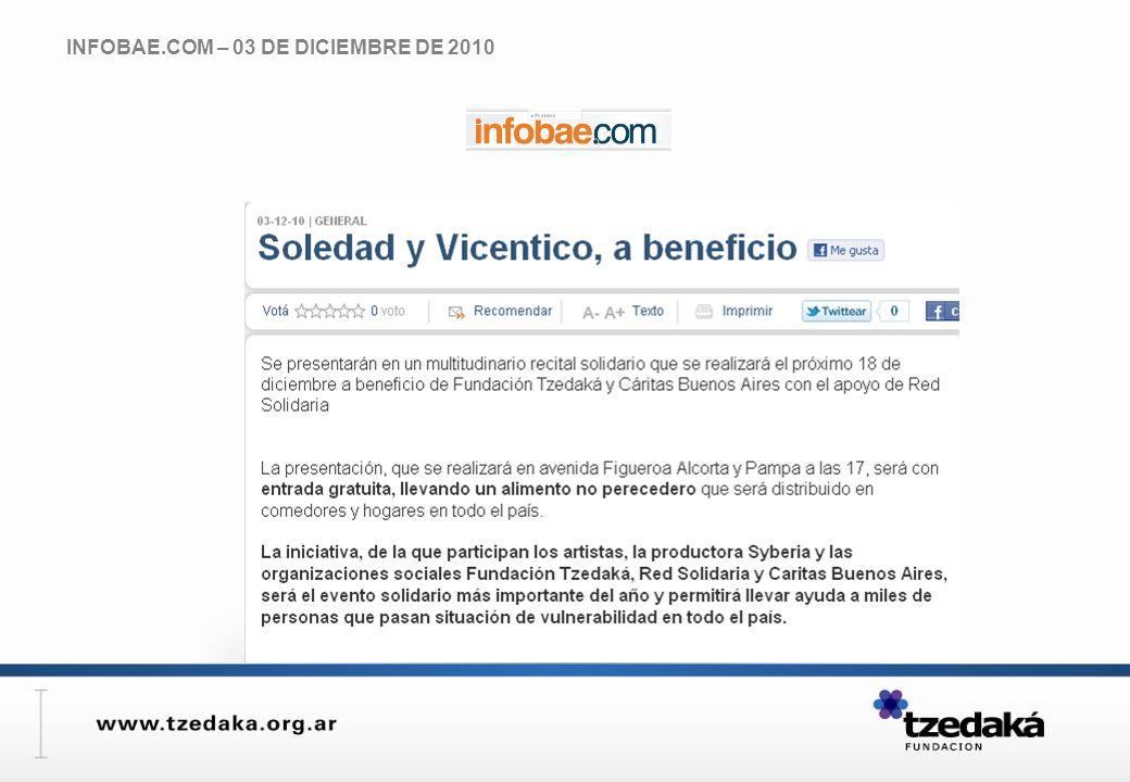 INFOBAE.COM – 03 DE DICIEMBRE DE 2010