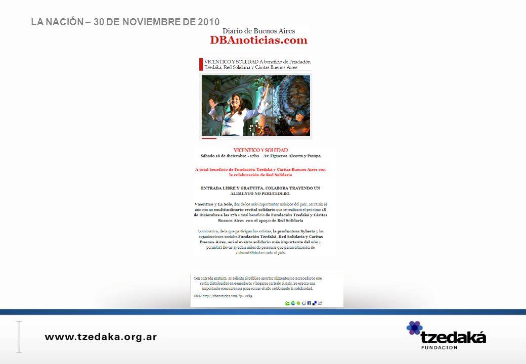 LA NACIÓN – 30 DE NOVIEMBRE DE 2010