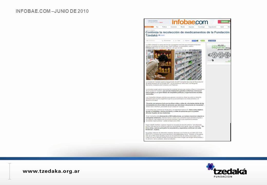 INFOBAE.COM –JUNIO DE 2010