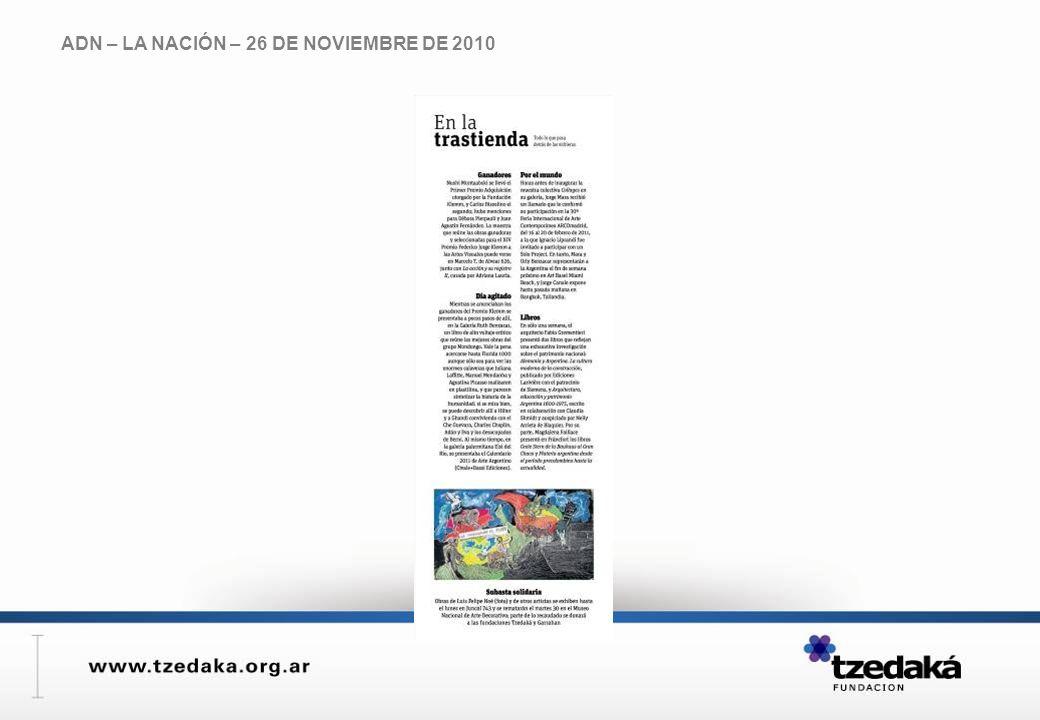 ADN – LA NACIÓN – 26 DE NOVIEMBRE DE 2010