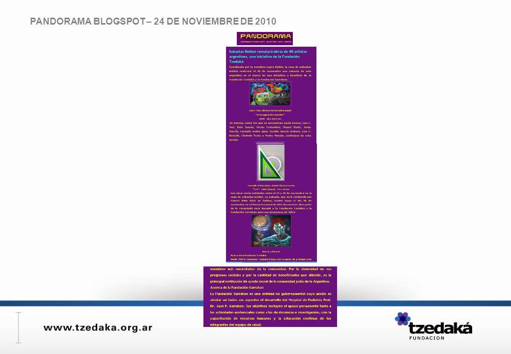 PANDORAMA BLOGSPOT – 24 DE NOVIEMBRE DE 2010