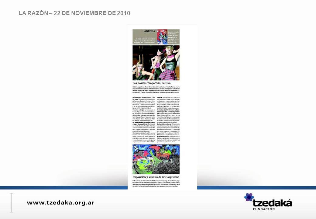 LA RAZÓN – 22 DE NOVIEMBRE DE 2010