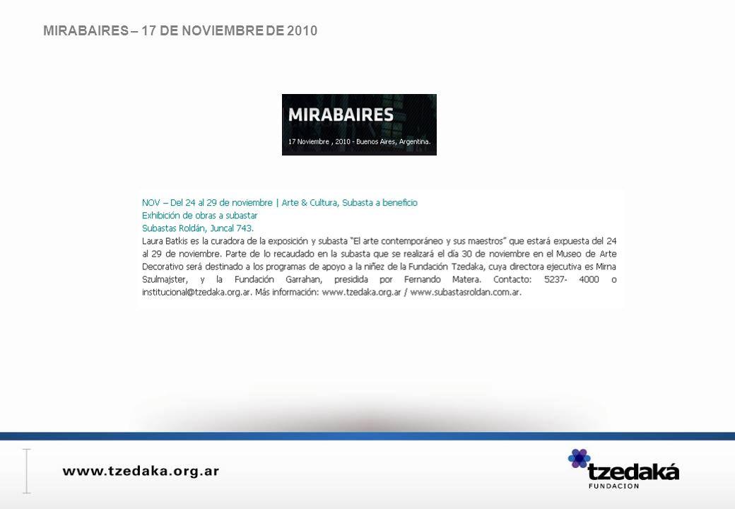 MIRABAIRES – 17 DE NOVIEMBRE DE 2010