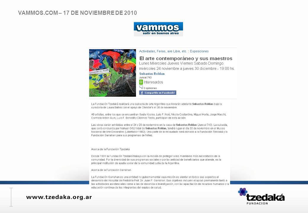 VAMMOS.COM – 17 DE NOVIEMBRE DE 2010