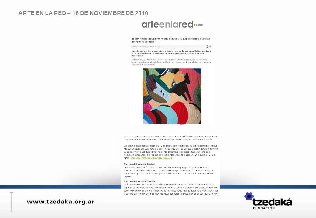 ARTE EN LA RED – 16 DE NOVIEMBRE DE 2010