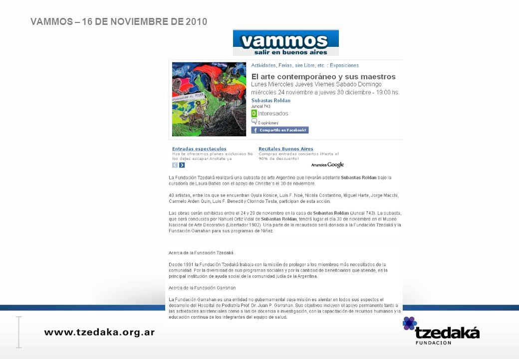 VAMMOS – 16 DE NOVIEMBRE DE 2010