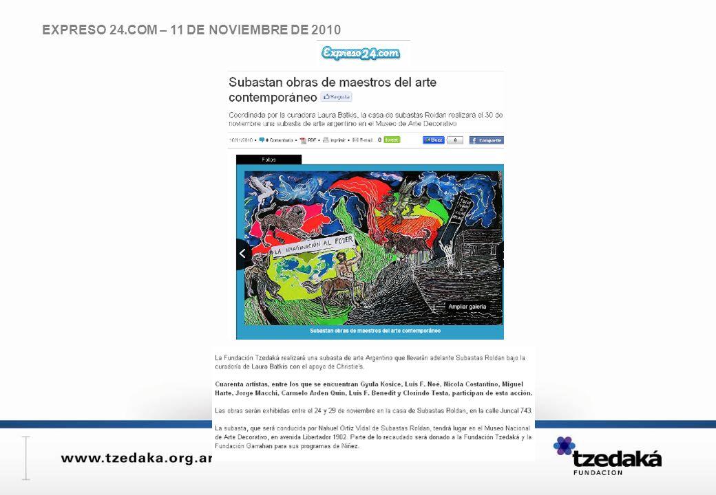 EXPRESO 24.COM – 11 DE NOVIEMBRE DE 2010