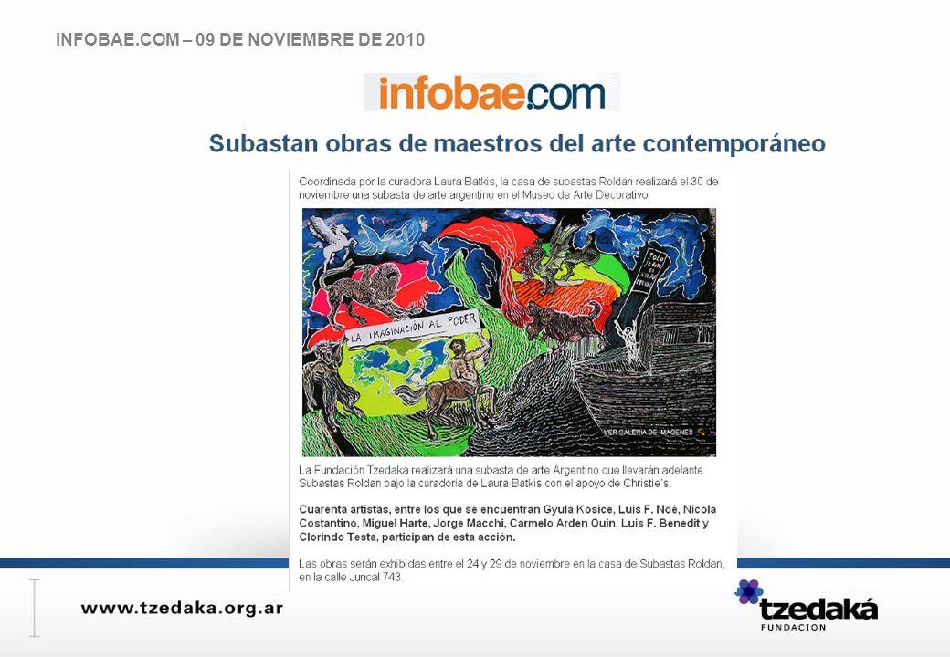 INFOBAE.COM – 09 DE NOVIEMBRE DE 2010