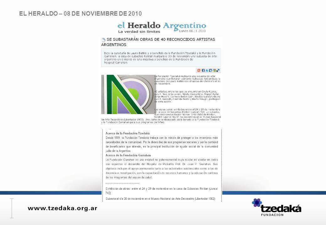 EL HERALDO – 08 DE NOVIEMBRE DE 2010