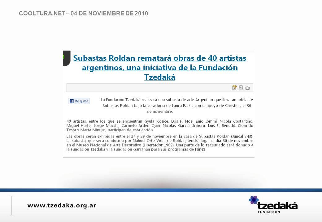 COOLTURA.NET – 04 DE NOVIEMBRE DE 2010
