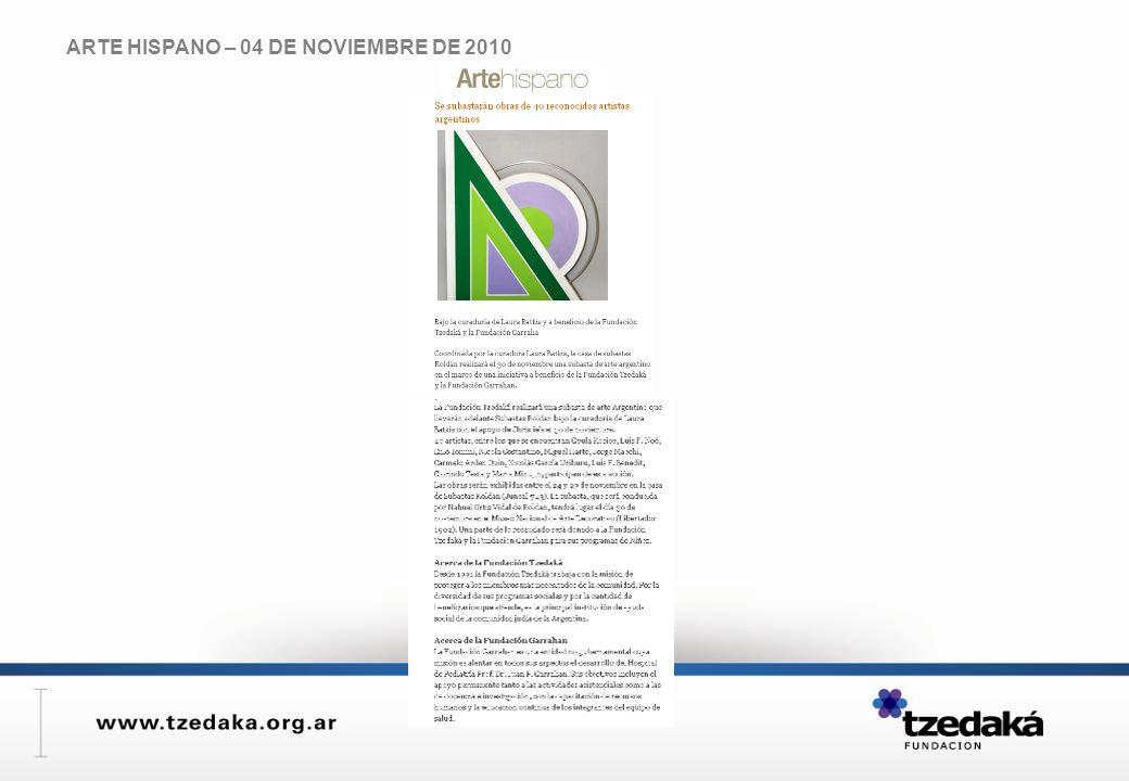 ARTE HISPANO – 04 DE NOVIEMBRE DE 2010