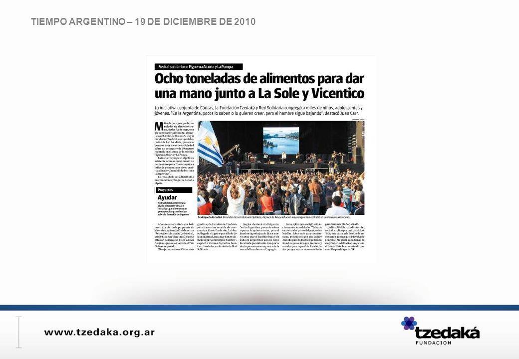 TIEMPO ARGENTINO – 19 DE DICIEMBRE DE 2010