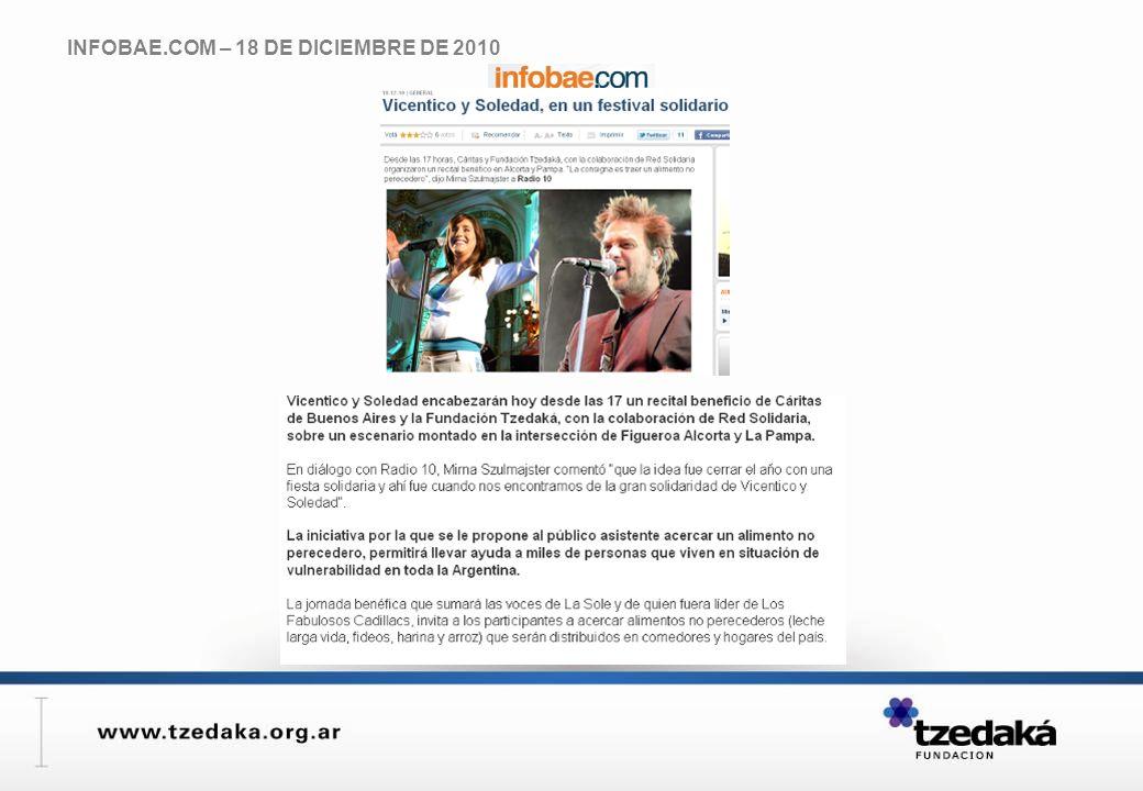 INFOBAE.COM – 18 DE DICIEMBRE DE 2010