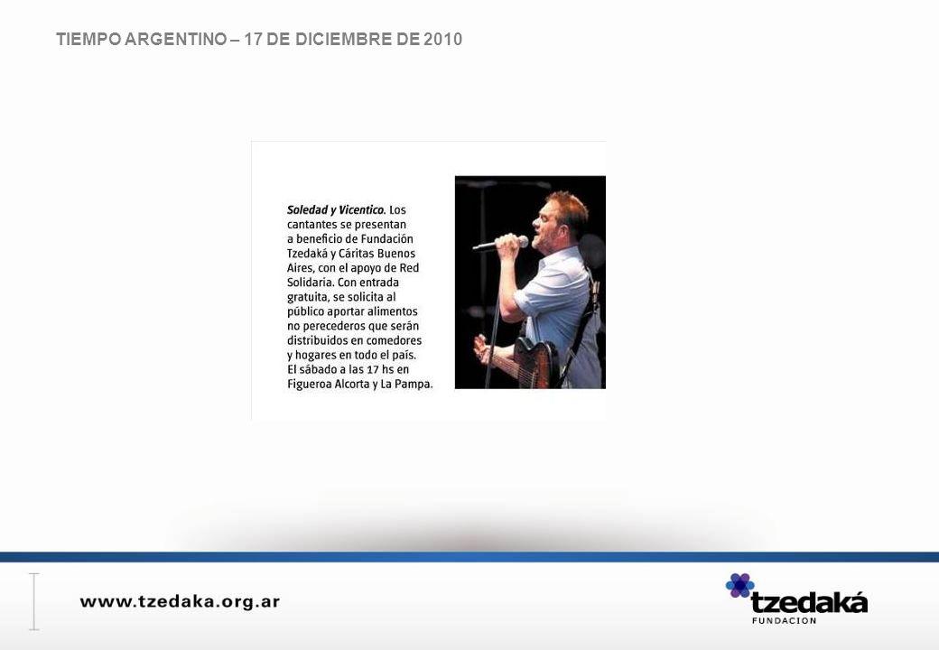 TIEMPO ARGENTINO – 17 DE DICIEMBRE DE 2010