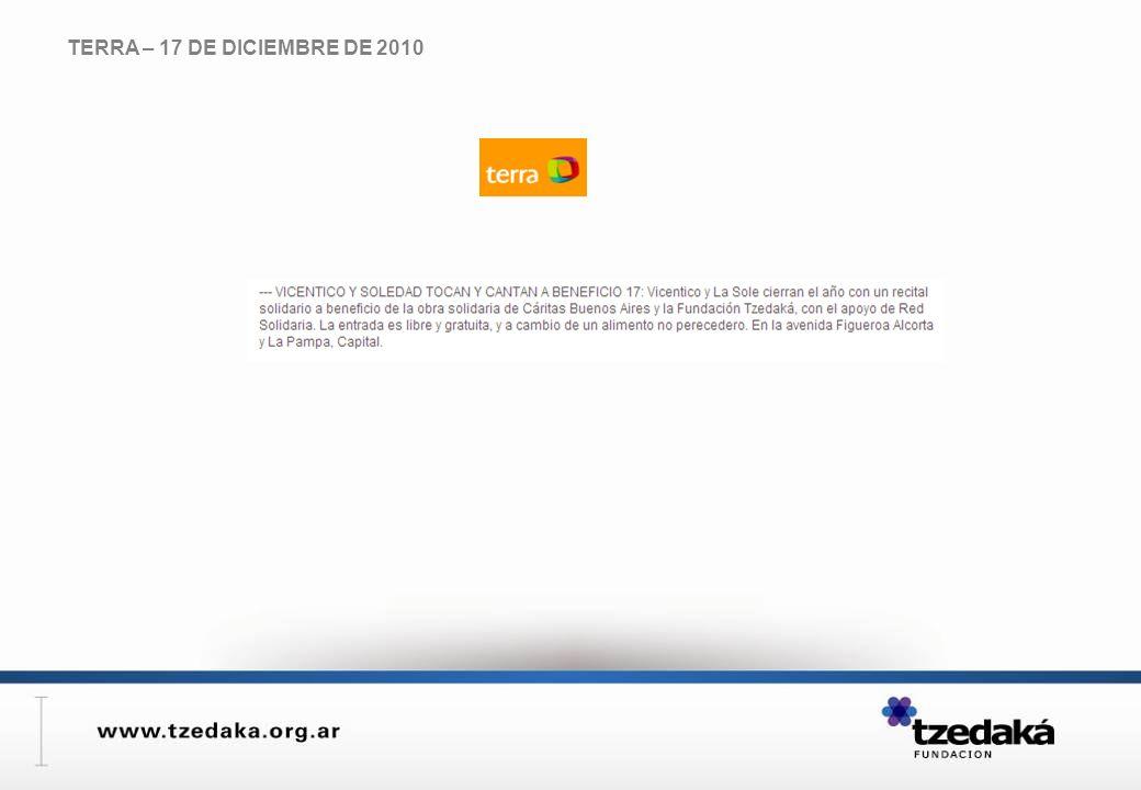 TERRA – 17 DE DICIEMBRE DE 2010