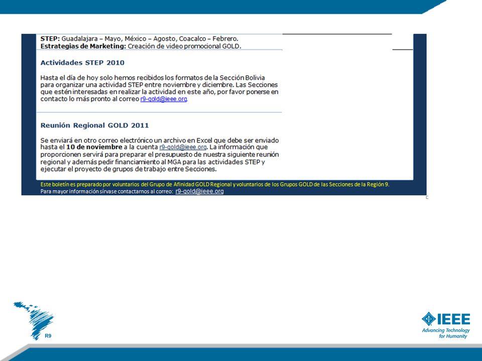 Expectativas en el 2011 Se apoyó la nominación de Jenifer Castillo a la convocatoria del (MGA) Nominations and Appointments (N&A) Committee.
