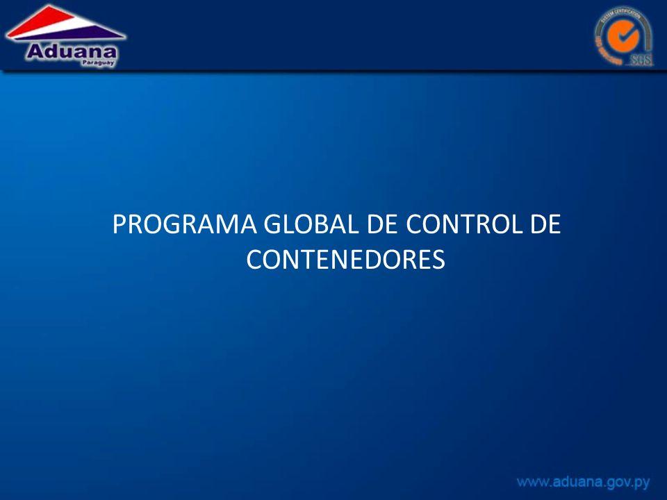 PROGRAMA GLOBAL DE CONTROL DE CONTENEDORES