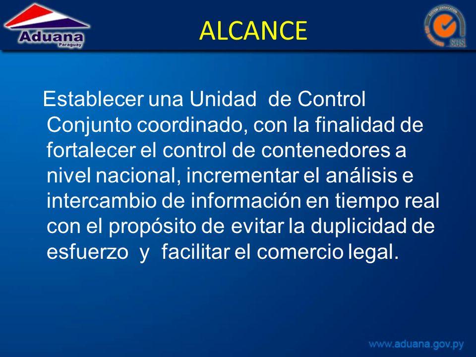 DE LA UNODD La Oficina de las Naciones Unid ONUDD, se compromete a nombrar un Asesor Regional y a brindar todo el apoyo logístico, capacitación, entrenamiento e información que necesite la Unidad de Control Conjunto.