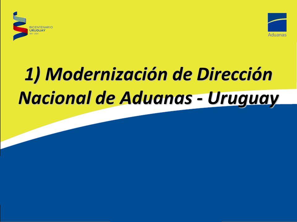 1) Modernización de Dirección Nacional de Aduanas - Uruguay